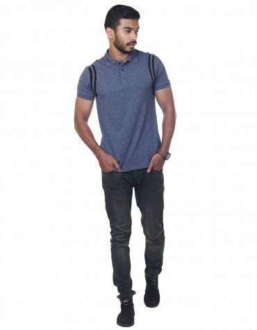 Contrast-Trim Polo Shirt