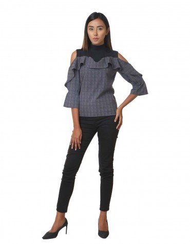 Statement Top with Cut-Out Shoulders