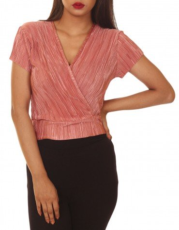 Pleated Over-Flap Top