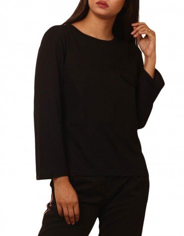 Knit Top with Pocket