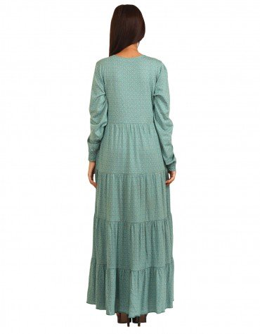 Ruffled Print Dress