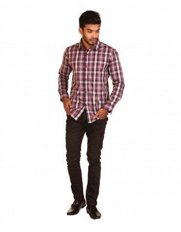 Contrast Checkered Shirt