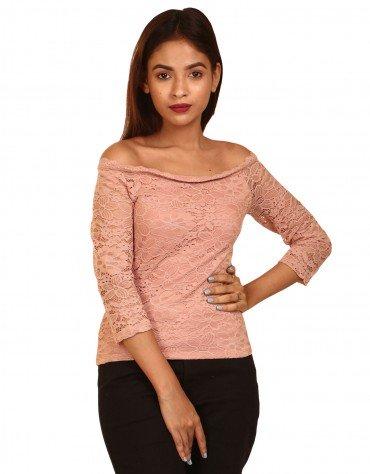 Off-Shoulder Lace Top