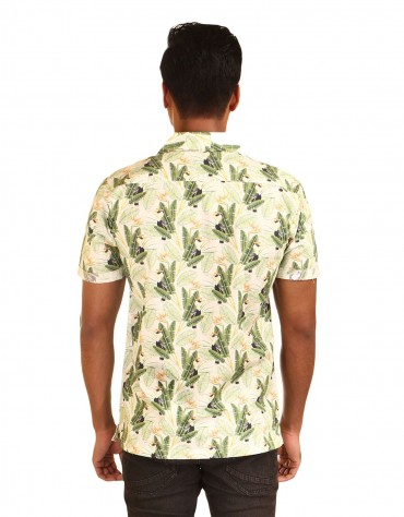 Tropical Print  Half-Sleeved Shirt